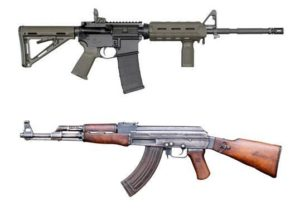 AR-15 and AK-47